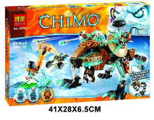 414pcs Chimaed Saber-toothed tiger Building Block best gift for children kids toys Compatible With Legoe Chimaed(China)