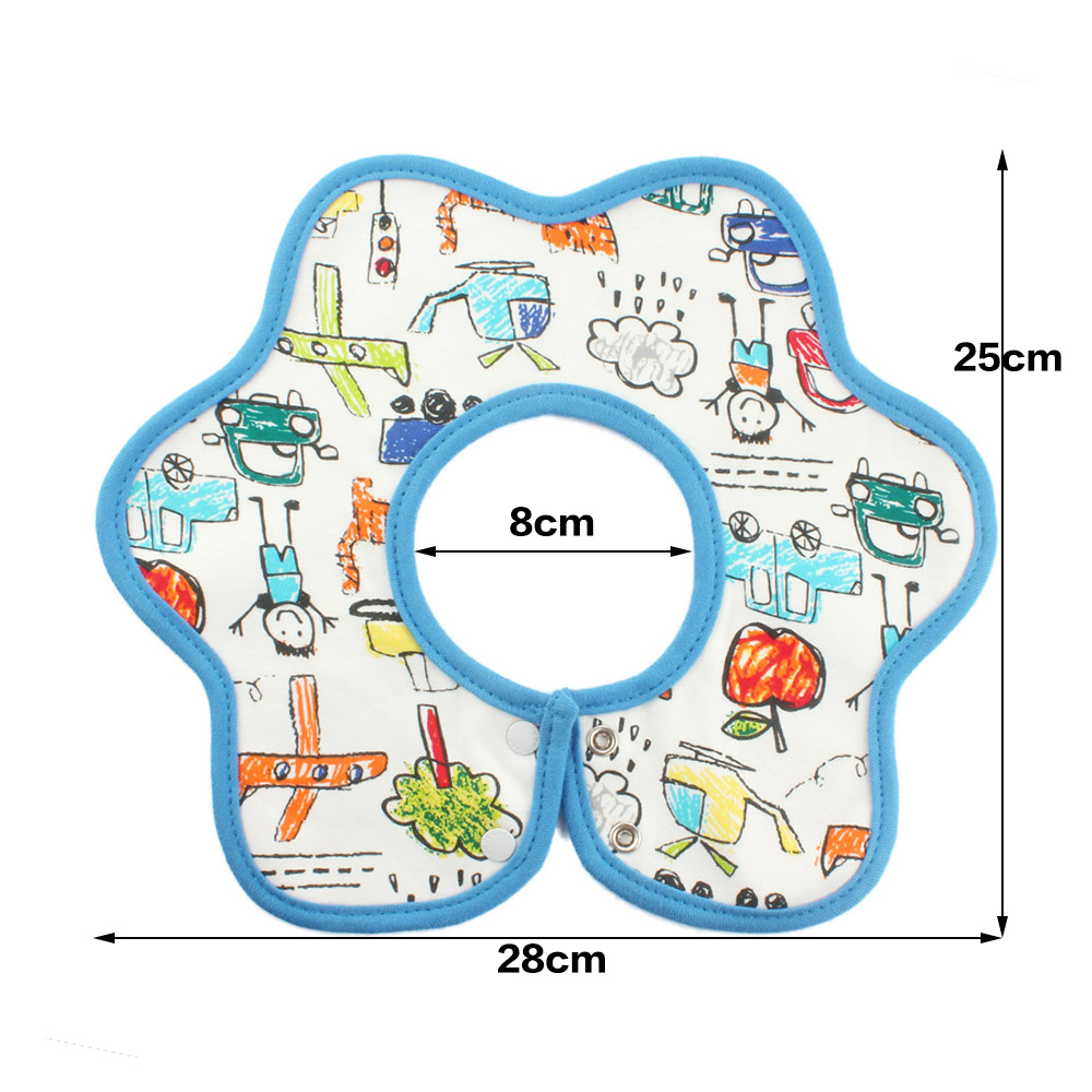 Clearance Newborn Round Flower Whirling Burp Cloths Infant Colorful Baby Bibs Soft Waterproof Feeding Scarf Baby Towel Bibs