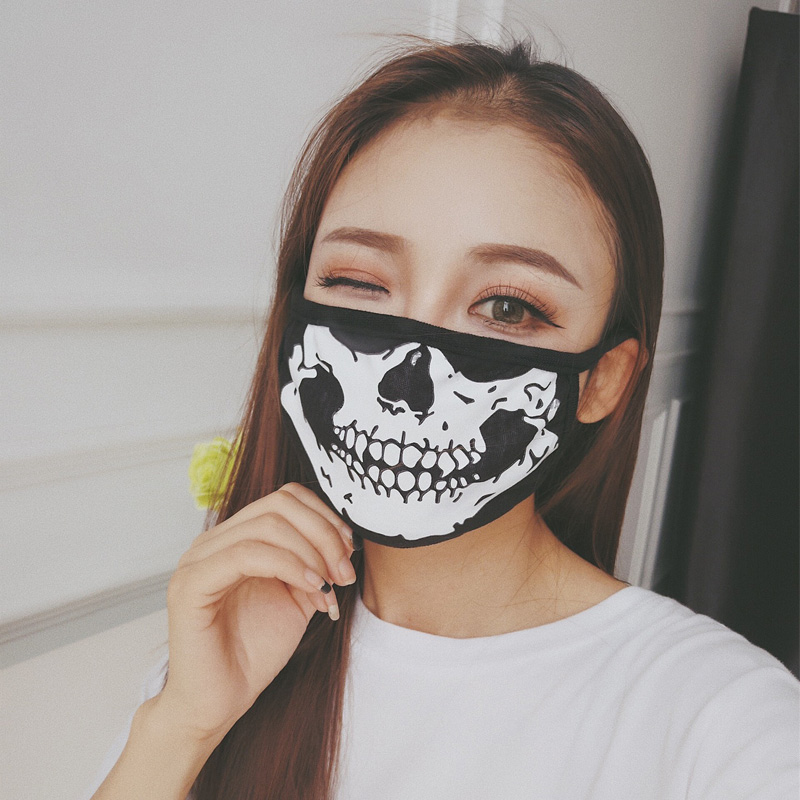 1Pcs Cotton Dust Mask Mask Unisex Fashion Skull Bicycle Ski Dustproof Cotton Face Protection Fashion Mask Personal Health Care