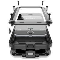 Luksusowe Doom Życia Wodoszczelność Wstrząsoodporna Armor Krzemu Aluminium Metal Case dla IPhone 7 8X6 S 6 S Plus 5S 5 5SE 5C 4S Coque