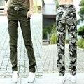Venta caliente de La Nueva Llegada de Las Mujeres Pantalones de Camuflaje Pantalones Rectos Femeninos Pantalones Casuales Pantalones multibolsillos de Las Mujeres 6XL