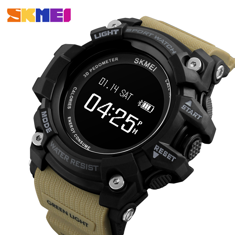 Smart Watch Heart Rate Sport Watches Men Bluetooth Pedometer Calorie Rechargeable Led Digital Wristwatch Reloj Hombre Skmei 2018 Men's Watches Digital Watches