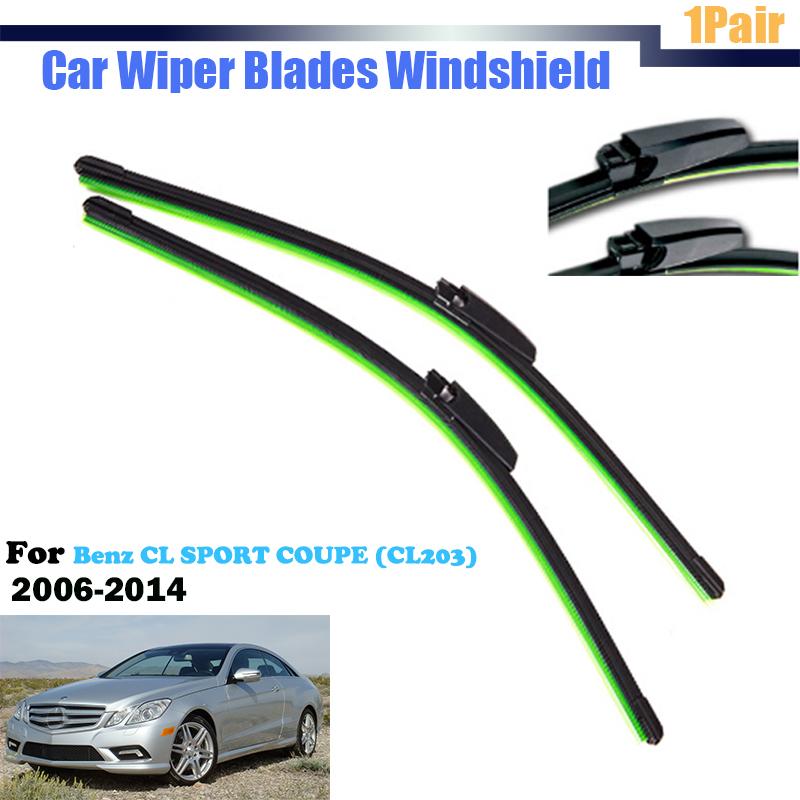 Car windscreen wiper blade windshield soft rubber wiper for Mercedes benz windshield wipers replacement
