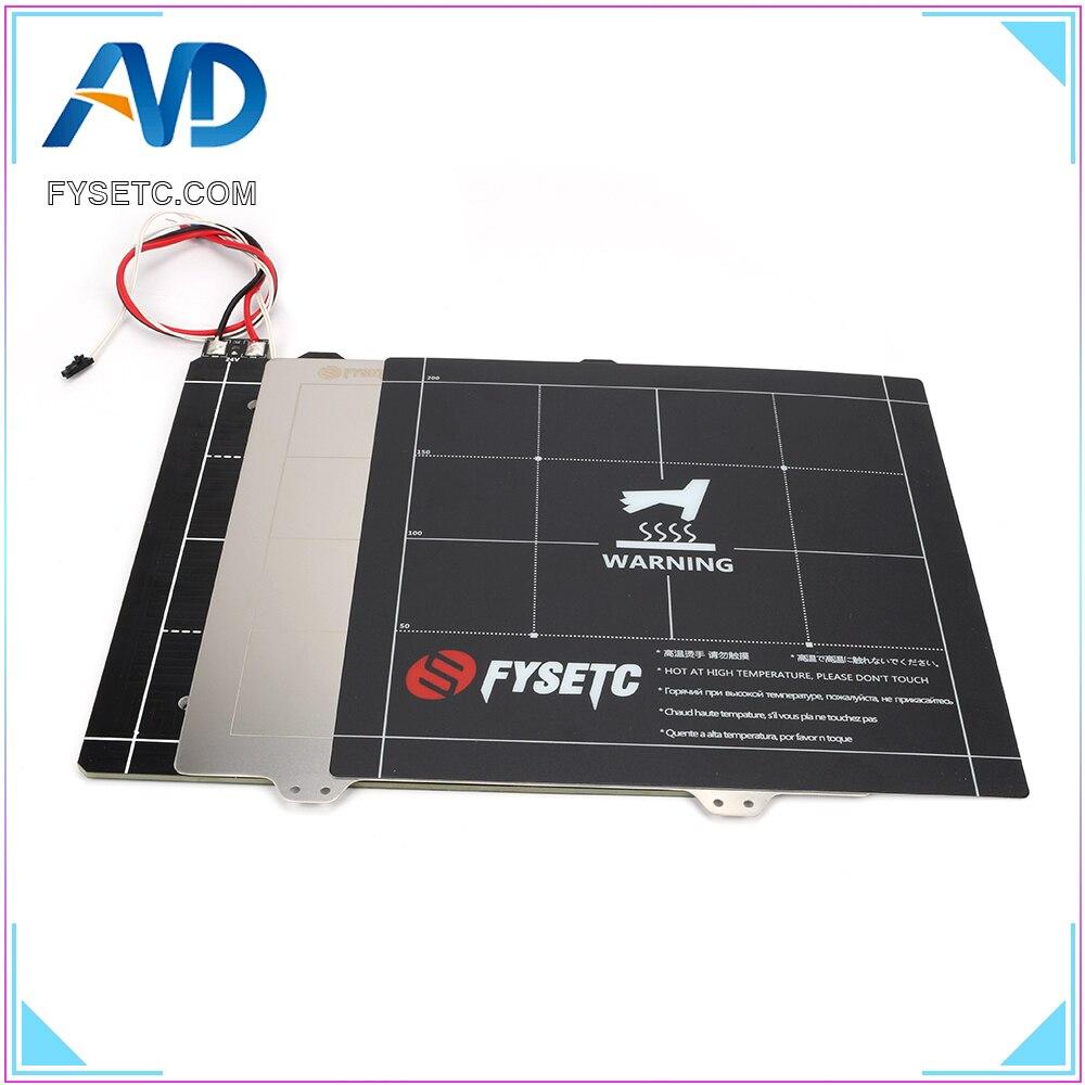 3D Imprimante Magnétique Chauffée Lit 24 v Câblage Thermistance Kit Avec Tôle D'acier 300*300mm Pour Anet E12 TEVO Tornade 3D Imprimante Pièces