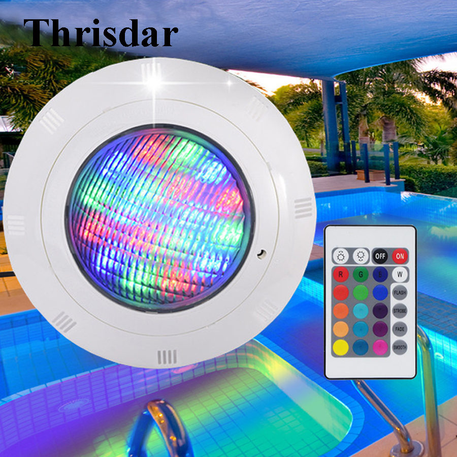 Thrisdar 16 Color RGB Led Swimming Pool Light With Remote AC12V 18W Outdoor Aquarium Underwater Light IP68 Fountain Pond Lamps