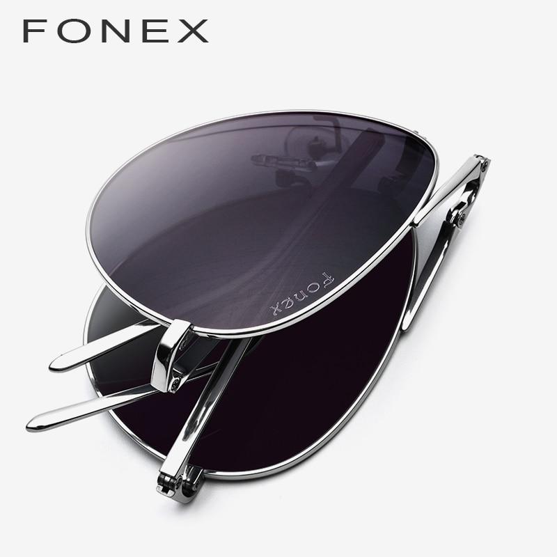 Pure Titanium Polarized Sunglasses Men 2019 New Folding Famous Aviation Sun Glasses for Men Aviador High