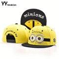 Caráter bonito Minions padrão chapéus homens bonés de beisebol chapéu europeu e americano de mulheres chapéus Gorra óssea YY0388