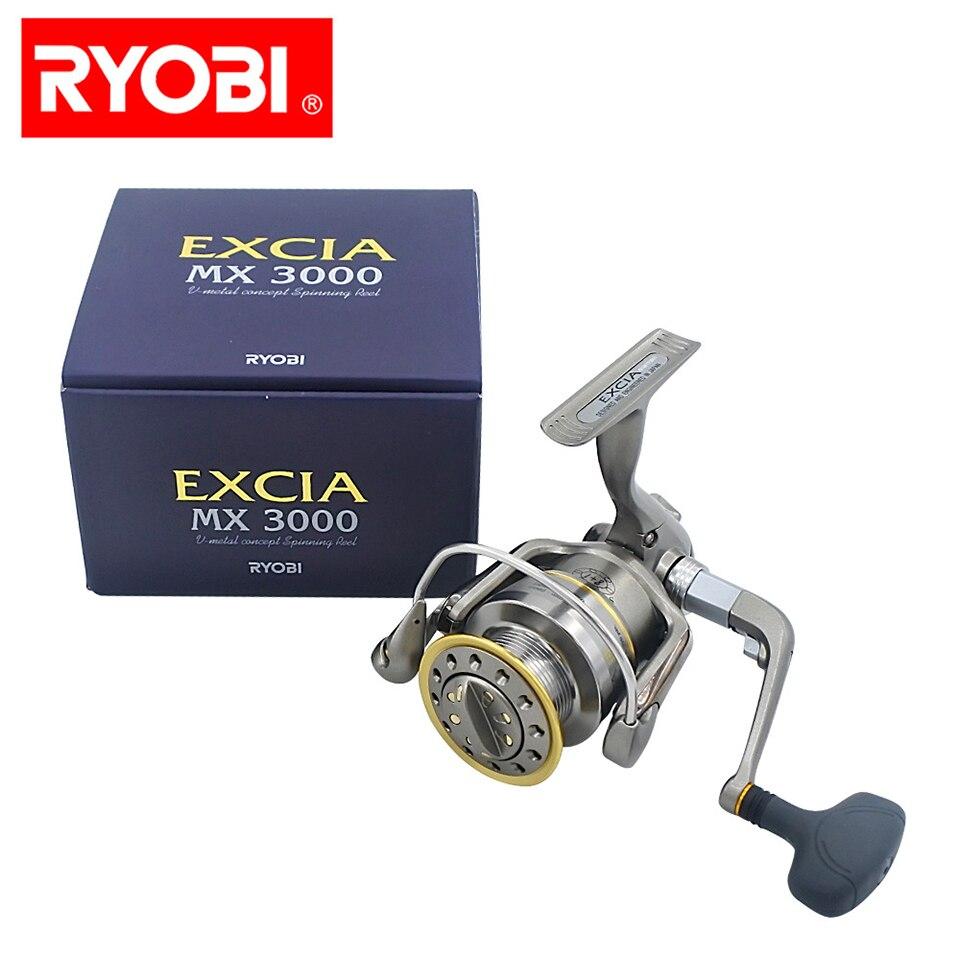 RYOBI moulinet de pêche EXCIA moulinet de filature 8 + 1 roulements 4.9: 1 rapport 6.0KG puissance japon moulinets avec poignée pliable
