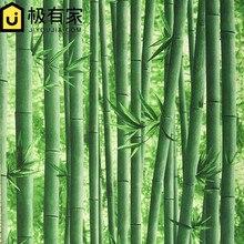 0.53×10 m 3d patrón de papel tapiz de bambú restaurante hotel hall de entrada salón TV telón de fondo papel pintado del estilo Chino clásico