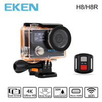 Original Action Camera EKEN H8 H8R VR360 Ultra 4K 30fps WiFi Dual LCD Remote Controller Mini