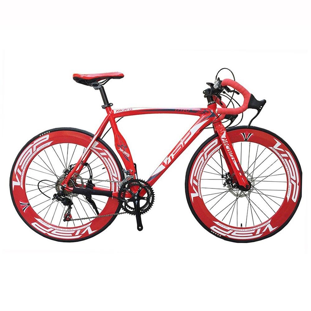 VISP Vélo De Route 48 cm 51 cm 54 cm cadre 700C vélo 90mm Jante vélo Vitesse Route Vélo Disque De Frein Route Vélo 14 vitesse Vélo
