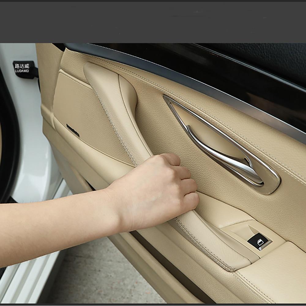 Porta pannello porta Interna sedile del conducente interruttore di pulsante scatola di immagazzinaggio cornice di Per BMW 5 Serie F10 F11 F18 porta interno maniglia anteriore sinistro