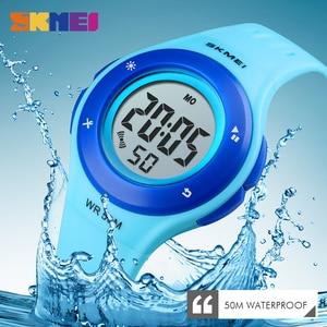 Image 3 - SKMEI Kids Watch LED Sport Style Children Watches Boy Girl Fashion Digital Watch 5Bar Waterproof Watch montre enfant 1455