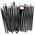 Hot 20 pcs Jogo de Escova Maquiagem ferramentas Make-up Kit de Higiene Pessoal Lã Marca Make Up Brush Set pincel maleta de maquiagem