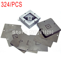 Freeshipping 324 Pcs 90 BGA Stencils Templates BGA Reballing Station For Motherboard PSP Game Machine Memory