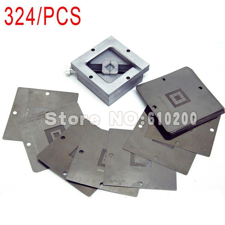 324/pcs 90 BGA stencils templates+ BGA Reballing Station for Motherboard PSP Game machine Memory Graphics card MTK