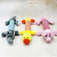 2017 New Dog Toys Pet Puppy Chew Squeaker Squeaky Plush Sound Duck Pig & Elephant Toys 3 Style Dog Toys
