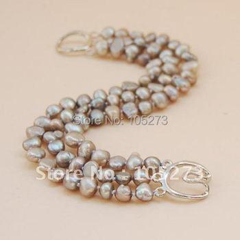 Freshwater Light Gray Pearl Bracelet