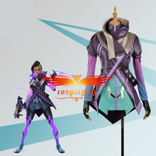 Game OW Over Cosplay Costume Hacker Sombra Nanosuit Women Female Uniform Outfit Cloth For Adult Party Halloween Carnival