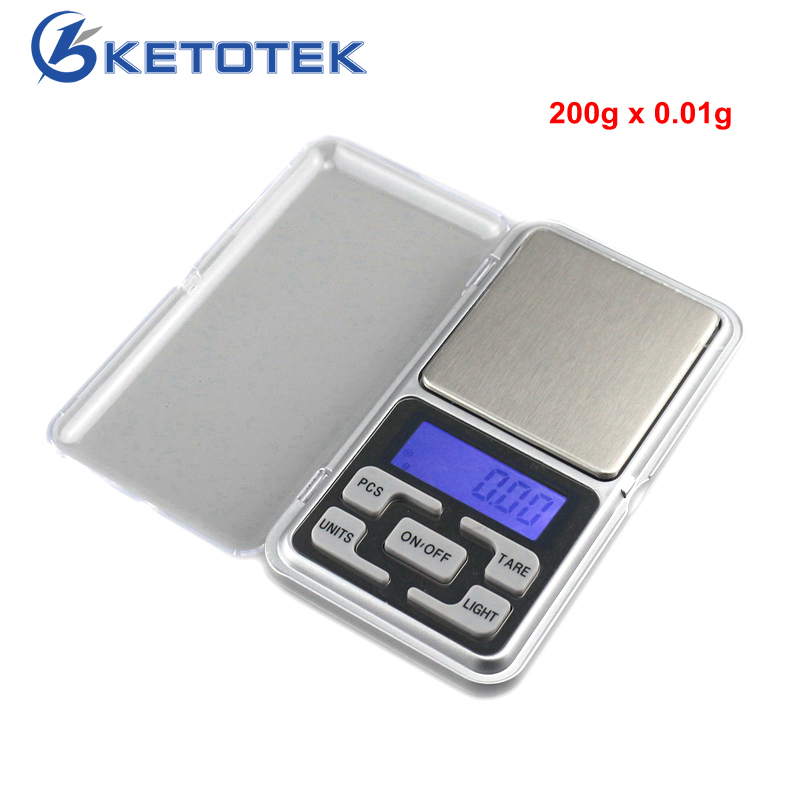 200g/0.01g Digital Pocket Scale Weed Jewelry Scale Electronic Scales Weight Balance