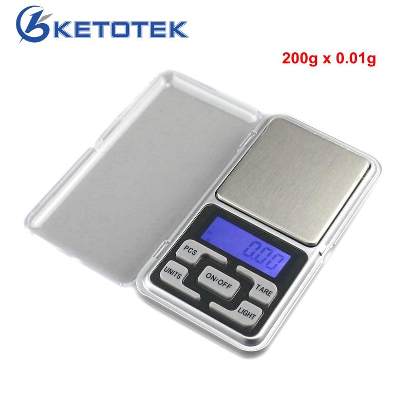 Электронные карманные весы 200 г/0,01 г