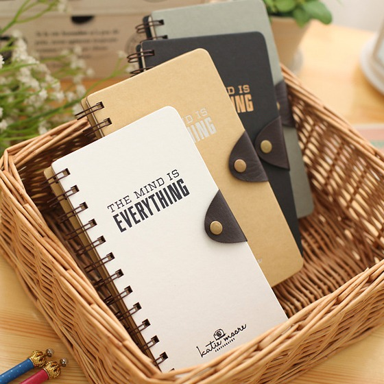 My Mind Journal Diary Coil Bound Cute Planner Pocket Study Notebook Agenda Notepad Memo pink pineapple cute notebook diary hand memo study journal coil spiral notepad