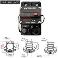 150 Amp Circuit Breaker Trolling with Manual Reset, 12V 48V DC, Waterproof