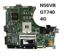 Original N56VB GT740M Laptop Motherboard REV2.3 8PCS video card 4G N14P-GE-OP-A2 2G mainboard 100% tested