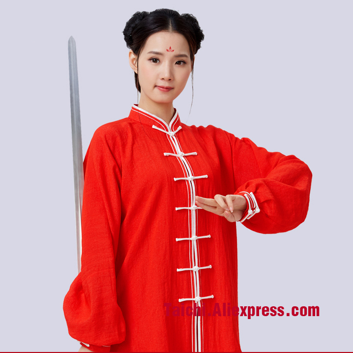 Linen And CottenMale Female Tai Chi Uniform Kung Fu Martial Art Suit  Chinese Stlye Sportswear