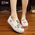Fashion embroidery shoes women mary jane ladies flats shoes Platform shoes women Casual  femme board shoes loafers plimsolls