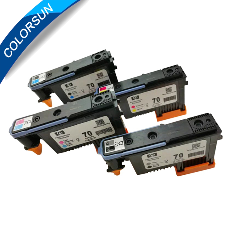 Refurbished 4pc for hp 70 printhead for hp Designjet Z2100 Z5200 Z5400 B9180 printhead original 8 color remanufactured print head printhead for hp 70 print head for hp70 for hp designjet z2100 z5200 b9180 z5400