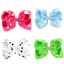 лучшая цена 4.5-inch children's hairpin print point curling butterfly bow global explosion models hot hairpin headwear accessories