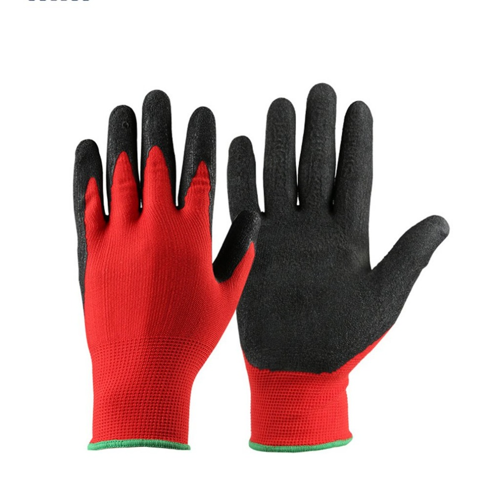 1 Pair of Cotton Soft Latex Garden Worker Wear Safety For Farming Farm Garden Work Labor Anti Prick Cut Resistant Gloves pair of safety adjustable high impact resistance outdoor kneepad