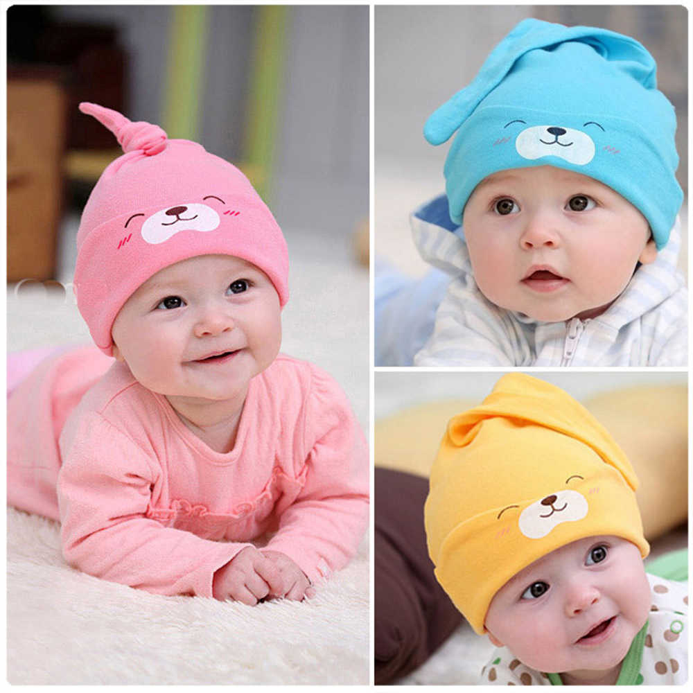 Cartoon Baby Hat Cute Animal Baby Girls Boys Toddlers Cotton Sleep Cap for  Newborn Spring A Hats bebek Clothing Accessories