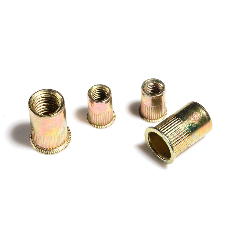 Rivet Nut Metric Threaded Rivnut Flat Head Nutsert Insert Rivetnut Zinc Plated Carbon Steel M3 M4 M5 M6 M8 M10 M12 in Nuts from Home Improvement