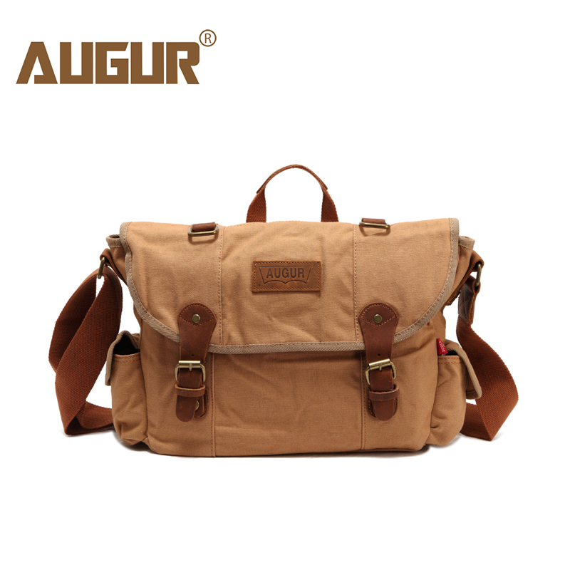 AUGUR 2018 Brands Handbag Messenger Bag Men Women Classic Canvas Shoulder Messenger Bag Male Travel Crossbody Bag Large Capacity augur large capacity men women crossbody bag for pad handbags canvas shoulder bag messenger bag