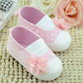 New Born Baby Infant Toddler Girl First Walkers Shoes Princess Mary Jane Flower Inner Polka Dot Footwear Crib Babe Anti-slip FCI