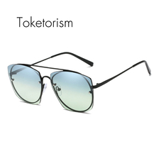 Toketorism 2019 new arrival sunglases high quality fashion shades for women uv400 protection 9617 vmc 9617 bz