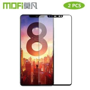 Image 1 - สำหรับ Xiao Mi 8 กระจกนิรภัย Mofi สำหรับ Xiao Mi Mi 8 Lite ฟิล์มแก้ว Mi 8 Pro ป้องกันหน้าจอสีดำ 2 PCS