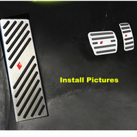Steel Foot Rest Gas/Fuel Brake Pedal Pad Cover Set For 2013 19 Audi A1 A3 Q2L S3 RS3 For 2013+ Golf MK7 Seat Leon Skoda Octavia