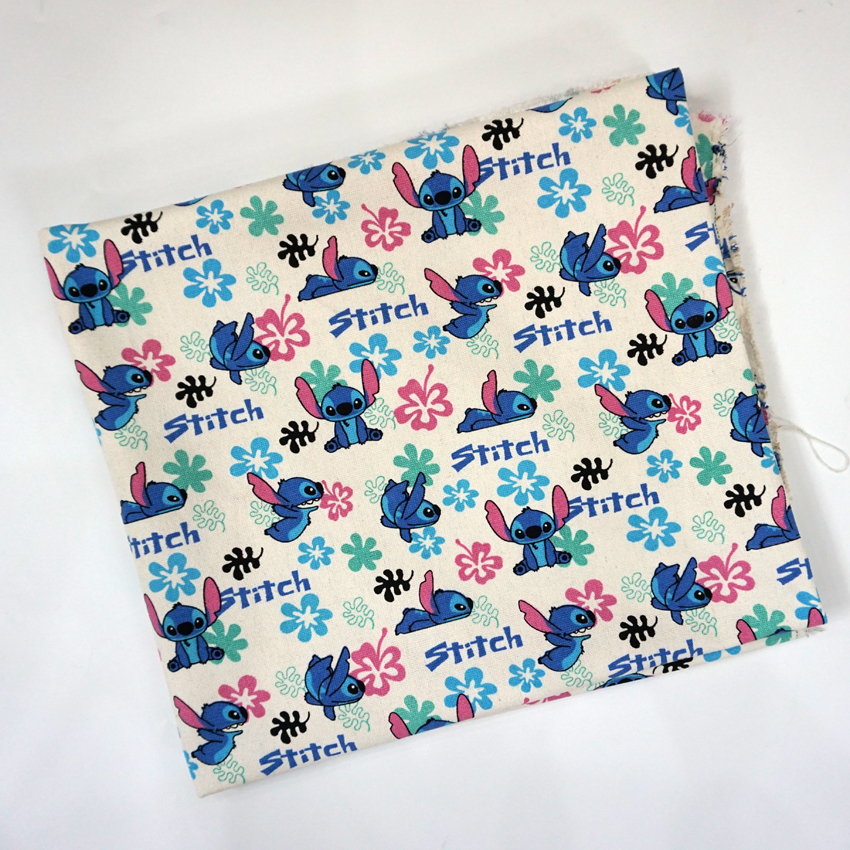 Cute Stitch Scrump Flower Cartoon Patchwork Canvas Fabric ...