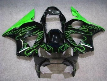 L36-Motorcycle Fairing Kit for  CBR900RR 954 02 03 CBR 900RR CBR900 RR 2002 2003 green flames black Fairings set