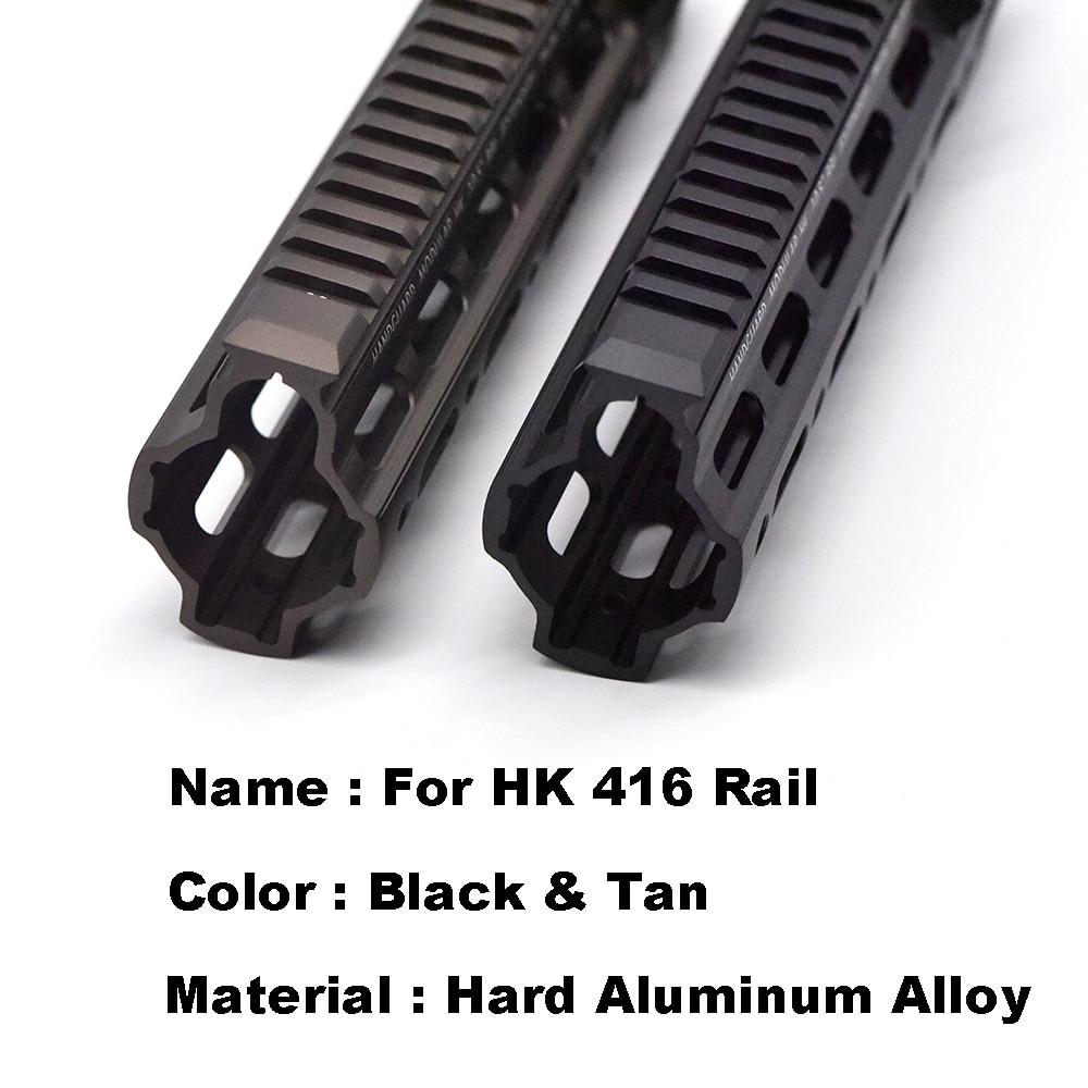 Alumínio casaco duro anodizado gt estilo 416 M-LOK mod lite handguard sistema ferroviário para ar aeg airsoft m4a1 paintball receptor caixa de velocidades