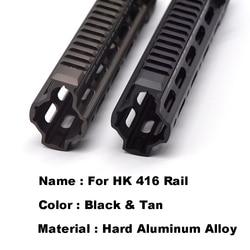 Cubierta dura de aluminio anodizada GT Style 416 m-lok MOD Lite, Sistema de barandilla protectora para AR AEG Airsoft M4A1, caja de engranajes receptora de Paintball