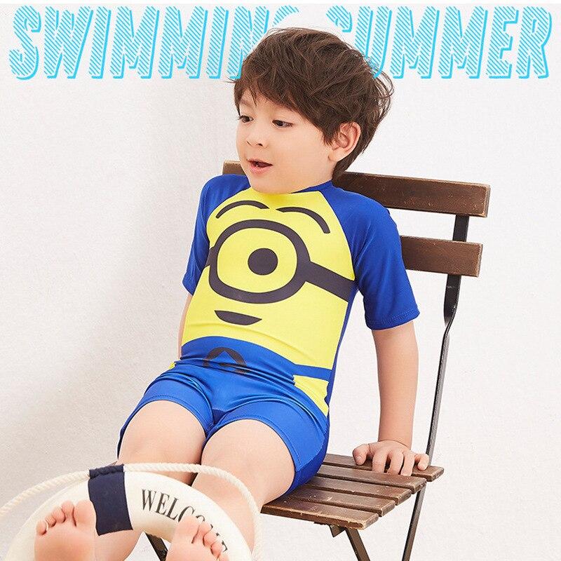 Baby Swimsuit Bikini Kids Boy Children's Bathing Suit For New Children Swimming Boys Adolescent Surfing 28067 Polyester - Цвет: see chart