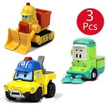 Robocar Poli niños juguetes Corea niños juguetes Metal coche modelo Robot Poli Roy Hailey Anime figura de acción coche para juguetes de los niños