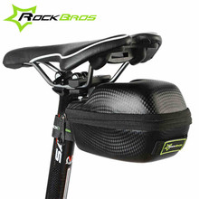 Rockbros Road Mountain Bike Bag Rainproof Bicycle Saddle Bag MTB Cycling Rear Seat Tail Bag Pouch Black Bicycle Accessories