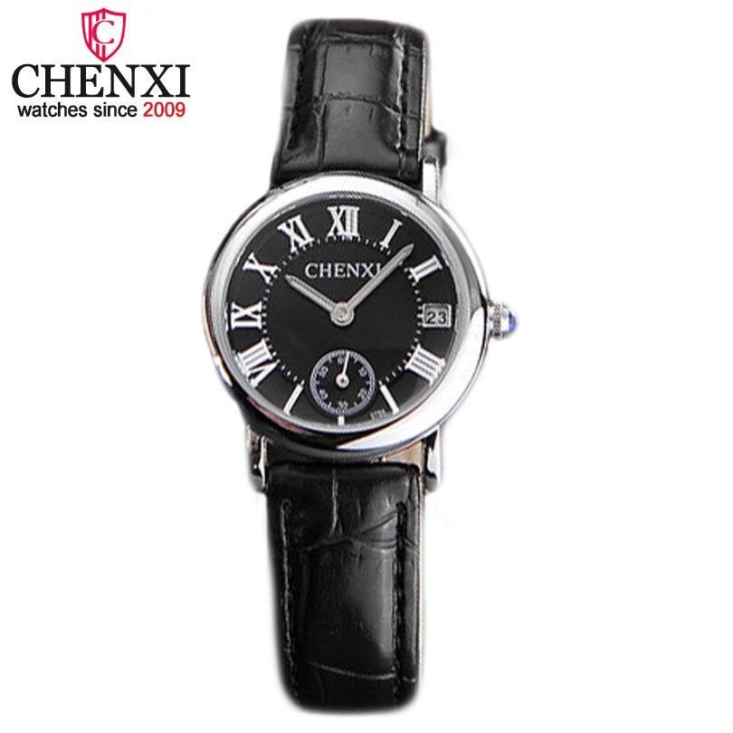CHENXI Brand Casual Dress Fashion Leather Waterproof Wristwatch Women Gold Quartz Watch Ladies Calendar Function Female