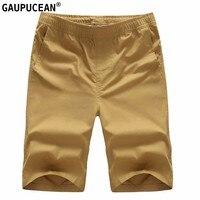 Katoen Man Korte Broek Solid Basic Zomer Mannelijke Casual Pocket rechte Wit Zwart Rood Oranje Kaki Marineblauw Oranje Mannen Shorts