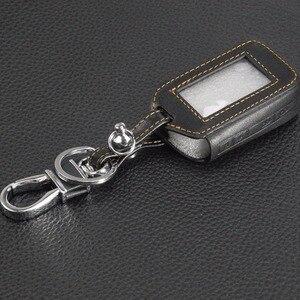Image 3 - Jingyuqin 4 düğmeler uzaktan deri anahtar kapağı kılıfı anahtarlık Starline E60 E61 E62 E90 E91 2 yönlü araç Alarm sistemi uzaktan